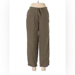 Matty M Olive Green Safari Cropped Pants D1360